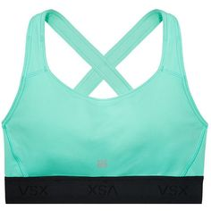 Victoria's Secret The Player Crossback Sports Bra ($15) ❤ liked on Polyvore featuring activewear, sports bras, underwear, tops, bras, shirts, sport shirts, moisture wicking sports bra, sports shirts and criss cross back shirt