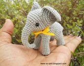 Amigurumi Baby Elephant - Gray Crocheted Elephant