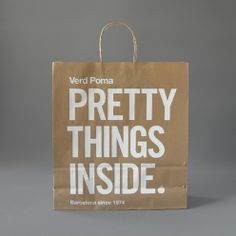 Pretty Things Inside shopping bag #design    CREATIVITY INSIDE
