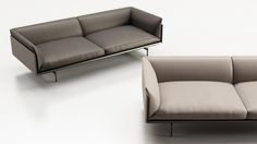 Material of preference and real know-how of ENNE, leather takes all its dimension in this large format sofa with frank and compact lines. Christophe..