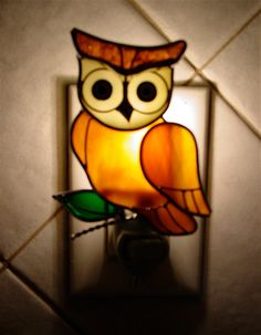 Wise old owl night light