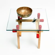 Square Maple Matchstick Table