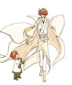 Syaoran Li (李小狼) with his son | Tsubasa: RESERVoir CHRoNiCLE (ツバサ -RESERVoir CHRoNiCLE-), TCR, Tsubasa | CLAMP