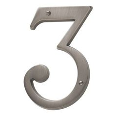 Baldwin 90673 Solid Brass Residential House Number 3 (distressed oil rubbed bronze)