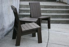 2x4chairX2brown