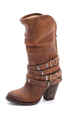amazing boots - perfect knee high slouchy boots in worn leather