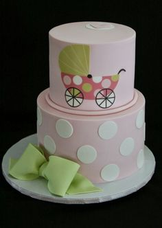 Baby Carriage Cake Pink