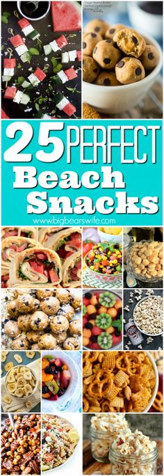 When you're ready to pack and head to the shore, make sure to pack a few of these beach snacks to keep the family happy while they're playing in the sand! Vacation Meal Planning, Vacation Snacks, Picnic Snacks, Picnic Foods, Picnic Ideas, Beach Day Food, Beach Foods, Snacks To Make, Healthy Snacks