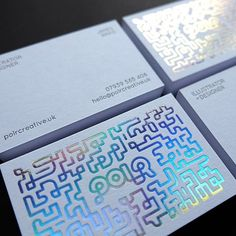 Just picked up my new business cards and I'm absolutely in ❤️with them! A massive thank you to the lovely folks at @typoretum for printing these. You've done an amazing job and it was lovely meeting you this morning. Now for the final push to get my new website finished. Holographic foiled & #letterpress on 540gsm Pristine White @colorplan_papers card #letterpresslove #letterpressprinting #holographic #businesscards #illustrator #illustration #designer #design