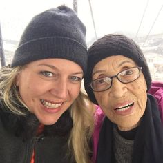 Photo by Wild author Cheryl Strayed. On the gondola with Betty Reid Soskin the oldest National Park Ranger in the US. She'll be 95 in September! Cheryl Strayed, Grit And Grace, A Writer's Life, Amelia Earhart, Other Woman, Ranger, National Parks, Old Things, September