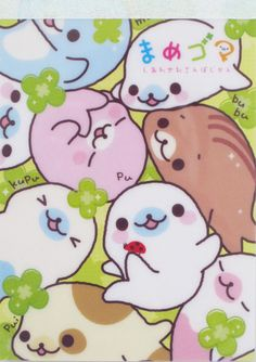 San-X Clovers Mamegoma Little Seals Memo Pad - From Carla