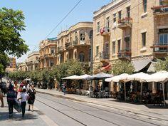 Jerusalem, Israel - Scenic View, Jaffa Road neighborhood (רחוב יפו)