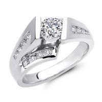 Floating Channel Set Diamond Engagement Ring at Ari Diamonds