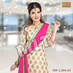 Select the best range of women #unstitched #suits in Banarasi Jaquard fabric with Hand Work for this #wedding #season.  SKU: M14967 Occasion: PARTY WEAR Color: FONE COMMON, GREEN, MAGENTA  Price: INR 2,864.00 (Offer: Free Shipping)  Buy now at http://bit.ly/1vQGdPS