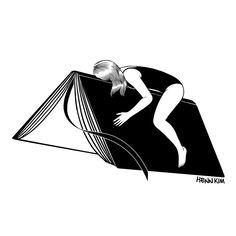 #hennkim #henn #art #illustration #drawing #sketch #black #white #pen #inspire #creative #society6 #artprint #print