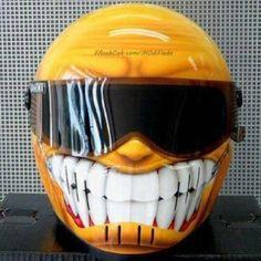 yellow smiley helmet