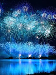 Blue fireworks by Takeshi Kanetake Beautiful World, Beautiful Places, Blue Fireworks, Fireworks Photography, Have A Nice Trip, Fire Works, Bonfire Night, Great View, Amazing Nature