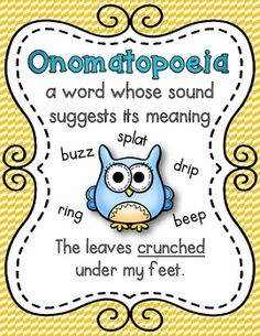 Owl themed figurative language posters.  9 posters included.  $