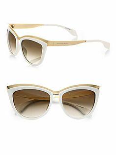 0b71645dbb47 Alexander McQueen Two-Tone Cat s-Eye Sunglasses RonitStylist