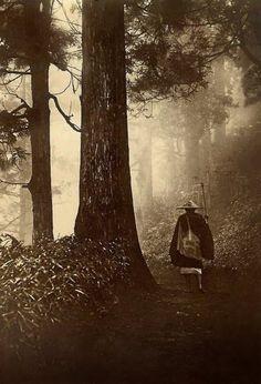 The Narrow Road to the Deep North is another beautiful pilgrimage tale by Basho the hailku poet.      toshi kurenu / kasa kite waraji / hakinagara          another year is gone / a traveler's shade on my head, / straw sandals at my feet [1685]