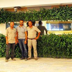 Nuestro equipo. Jardín vertical de la casa de Gran hermano