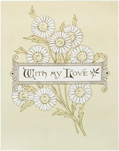 Vintage Daisy Card Image