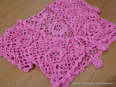Girlie's Crochet: Pink Bolero for 7 Years Old