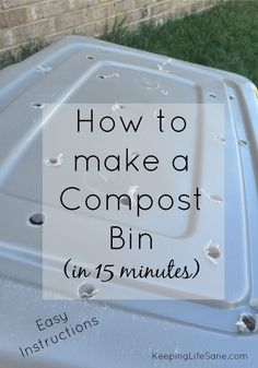 Gardening Composting My garden was the pits this year so I decided to make a compost bin. You won't realize how much food scraps you actually have until you do this! Garden Compost, Hydroponic Gardening, Organic Gardening, Gardening Tips, Vegetable Gardening, Organic Compost, Hydroponics System, Composting At Home, Worm Composting