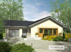 Selena II G1 (30 stopni) My Home Design, House Design, Gazebo, Pergola, Stone Driveway, Selena, House Plans, Outdoor Structures, Cabin