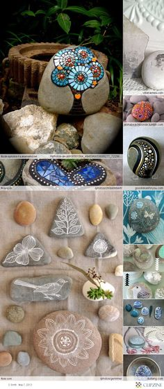 Crafts stones ~ Cause a girl can't have to many rocks =)