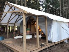 Luxury Tents Our versatile Wilderness Luxury Tent is perfect for constructing your one of a kinda glamping excursion. Camping Glamping, Camping Hacks, Outdoor Camping, Camping Ideas, Camping Essentials, Lake Camping, Camping Storage, Campsite, Cabana