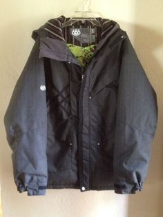 686 ACC Project Graphite Endangered Species Gray Insulated Snowboard Jacket Size Large