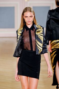 Runway beauty Cara Delevingne.