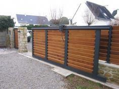 Pergola Ideas For Patio Front Gate Design, Main Gate Design, House Gate Design, Door Gate Design, Fence Design, Wooden Sliding Doors, Sliding Gate, Wooden Gates, Backyard Gates