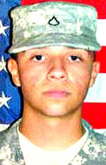 Army SPC Sergio E. Perez, Jr., 21, of Crown Point, Indiana. Died July 16, 2012, serving during Operation Enduring Freedom. Assigned to Troop Command, Indiana Army National Guard, Indianapolis, Indiana. Died of injuries sustained when his vehicle was struck by enemy rocket propelled grenades in Wali Kot District, Afghanistan.