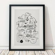 The Bochumer - Bubbles Print (50 x 70 cm) | Ruhrpix Prints & Poster Shop