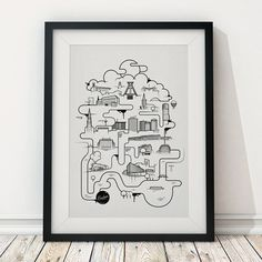 The Bochumer - Bubbles Print (50 x 70 cm) | Ruhrpix Prints & Poster Shop