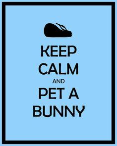 Items similar to Black Keep Calm and Pet A Bunny Bunny Rabbit Print on Etsy Baby Bunnies, Cute Bunny, Bunny Bunny, Bunny Rabbits, Baby Animals, Cute Animals, Funny Animals, Somebunny Loves You, Bunny Care