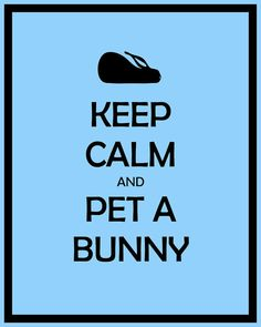 Black 8x10 Keep Calm and Pet A Bunny Bunny Rabbit by quirkybunny