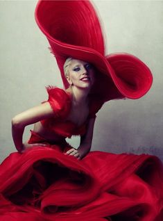Lady Gaga - Hat by Stephen Jones for Dior  ~✿Ophelia Ryan✿~