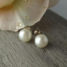 Ohrstecker Perle Silber 925 Elegant, Pearl Earrings, Pearls, Jewelry, Fashion, Gemstone Beads, Gemstone Earrings, Ear Gauge Plugs, Brooch