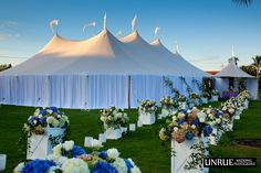 Gasparilla Inn Croquet Lawn Tent  *Draping and Floral Provided by Botanica*    #wedding #weddingflowers #Botanica  Photography by http://unruephotography.com/