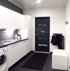 Modern Laundry Rooms, Laundry Design, Laundry Room Inspiration, Küchen Design, Interior Design Living Room, Interior Architecture, Home Appliances, House Styles, Home Decor