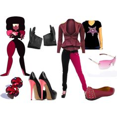 """""""Garnet"""" by katewithpaint on Polyvore"""