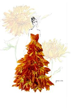 Ideas For Fashion Drawing Dresses Sketches Grace Ciao Grace Ciao, Fashion Drawing Dresses, Fashion Drawings, Unique Drawings, Dress Sketches, Fashion Design Sketches, Sketch Fashion, Floral Fashion, Fashion Art