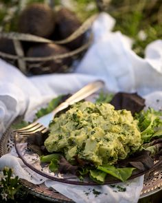 Avocado Jicama Salad (Rawmazing) -- Refreshing use of avocado. Uses a cashew mayo mixed into avocados, jicama, celery, dill and parsley.