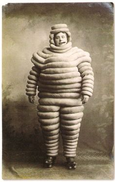 Michelin man smoking