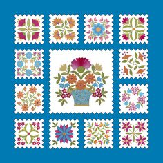 Florabunda BOM quilt by Erin Russek (Center block pattern must be purchased)