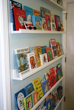 Bookshelves for boys' rooms