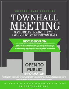 Townhall meeting event flyer design Click to customize Flyer and poster design Event flyer templates Flyer template